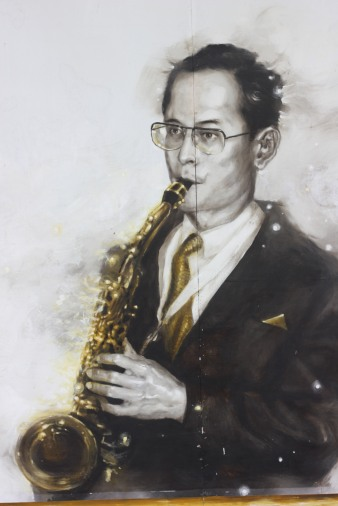 King Bhumibol Adulyadej of Thailand, who loved jazz and played a mean sax.